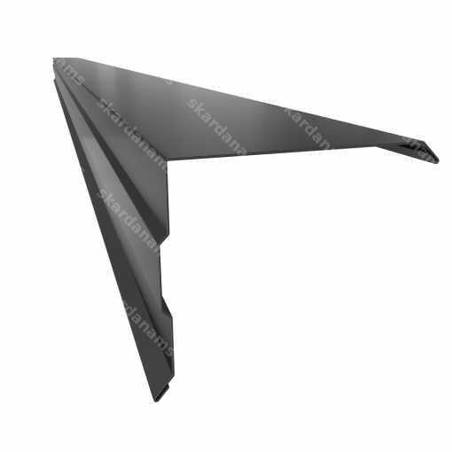 Vėjalentės uždengia aštrius metalo čerpių kraštus ir apsaugo pastogę nuo vėjo ir drėgmės.